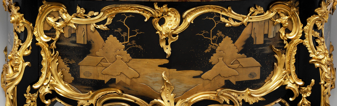 Lacquer on a side table from the mid eighteenth-century