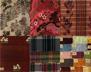 Examples of the variation achieved between different types of silks