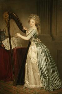 Self-portrait with Harp