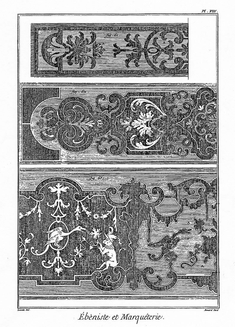 Examples of wood inlay
