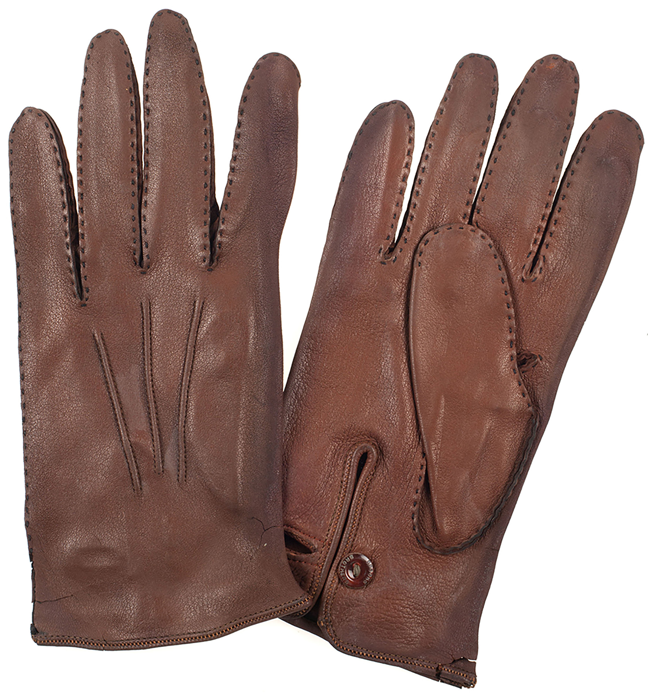 Brown vs black leather gloves - Figure 2 A Pair Of Leather Gloves Made By Brooks Brothers Ca 1880